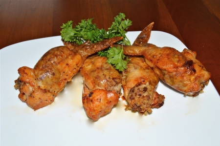 Boneless stuffed Chicken Wings