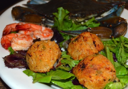 Shrimp stuffed with Shrimp and Crab dressing