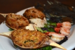 Crab stuffed with Shrimp and Crab dressing