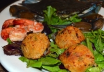 Shrimp stuffed with Shrimp and Crab dressing